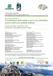 Forum degli Appennini su pietre a secco i viticoltura storica